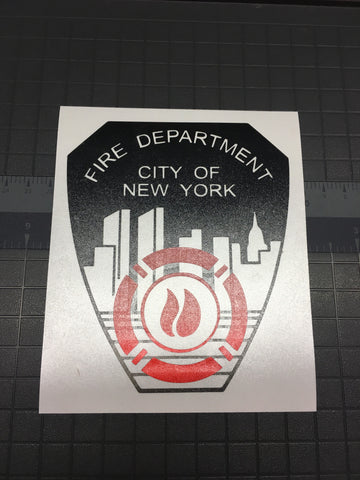 FDNY Decal - Any Color!