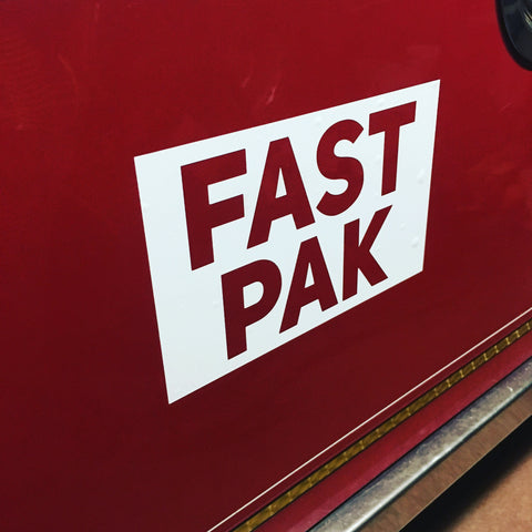 "5"" x 8"" FAST PAK Compartment Sticker"