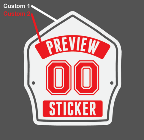 FD Chief Helmet Shield Sticker (Two Color)
