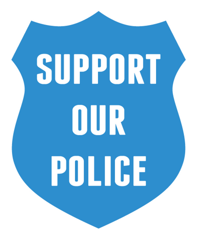 Support Our Police Blue Police Shield Vinyl Car Sticker Decal