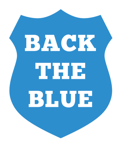 Back the Blue Police Department Shield Vinyl Car Sticker