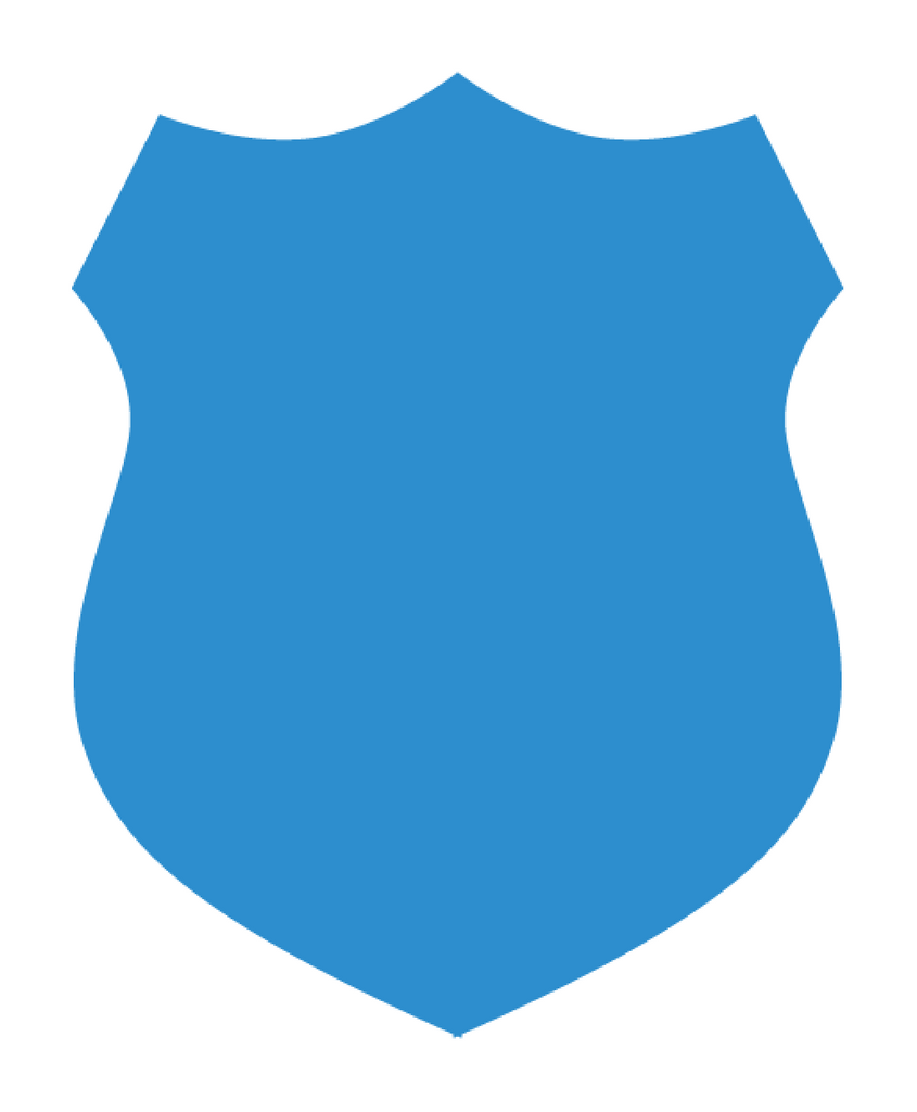 Blue Police Department Shield Shaped Vinyl Car Sticker