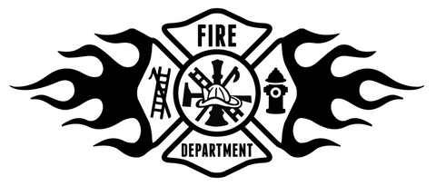FD Maltese Flame Sticker Generic