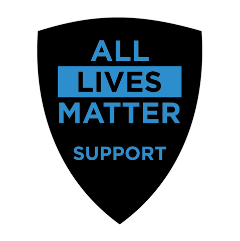 Support Police Department All Lives Matter Black & Blue Vinyl Car Sticker