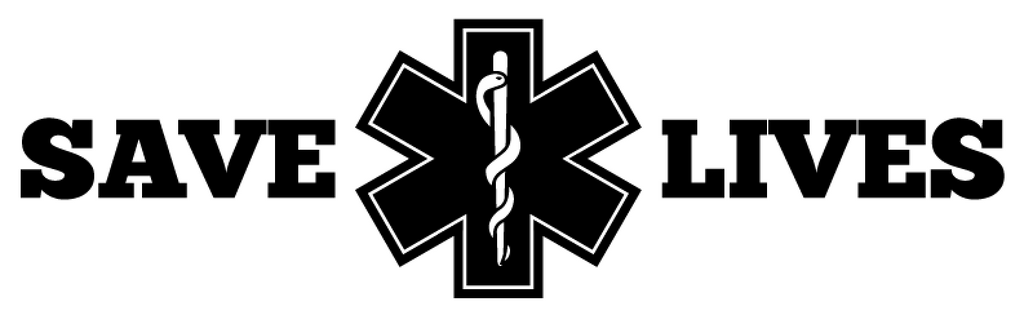 Save Lives EMS Star of Life Rod of Asclepius Vinyl Decal