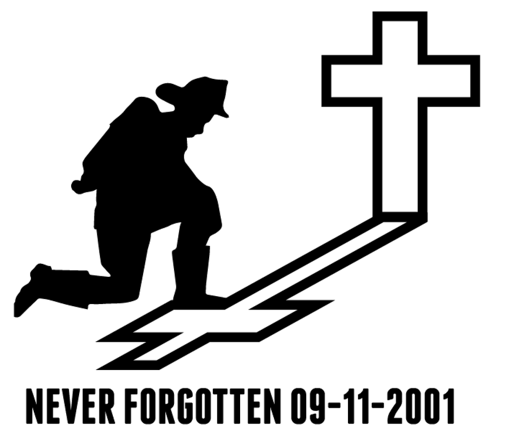Firefighter Cross - Never Forget