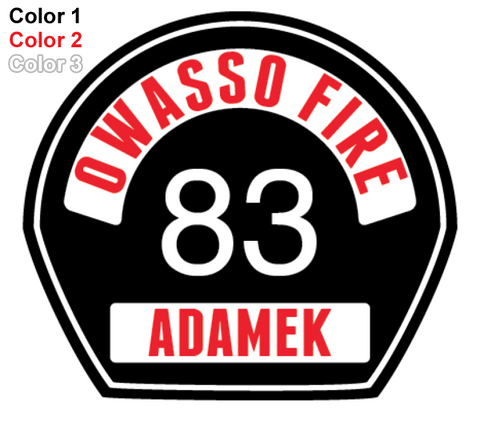 FD Helmet Shield Sticker (Three Color) Style 5