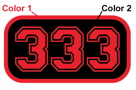 FD Number Badge (Two Color)
