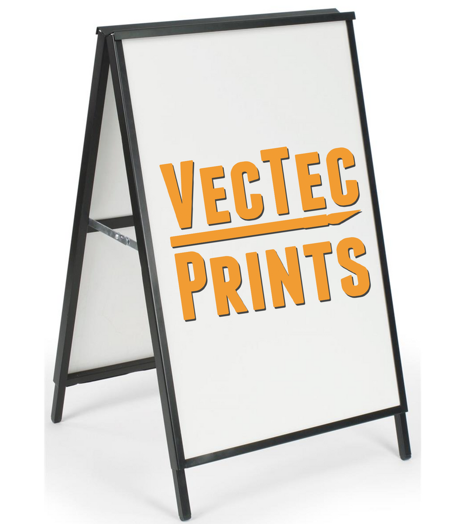 Metal Frame Printed Sidewalk Sign – VecTec Vinyl, Inc
