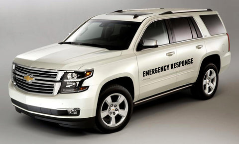"Response Vehicle Side Doors 4"" Letters"