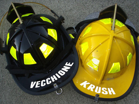 Firefighter Helmet Name Sticker