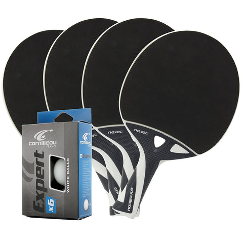 Cornilleau Nexeo X70 Ping Pong Paddles 4 Player Set (Value Pack) - Cornilleau Singapore