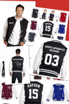 Adults Varsity Letterman Jacket - Personalised with HOOD Personalised Custom Uniform Teamwear Gift- Parkway Designs