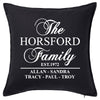 Established Date Family Cushion Personalised Custom Uniform Teamwear Gift- Parkway Designs