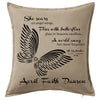 Angel Wings Memorial Cushion Personalised Custom Uniform Teamwear Gift- Parkway Designs