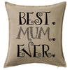 Best Mum Ever Cushion Personalised Custom Uniform Teamwear Gift- Parkway Designs