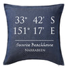 Co-ordinates Lattitude Longitude Cushion Personalised Custom Uniform Teamwear Gift- Parkway Designs