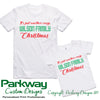 Crazy Family Christmas Adults Kids & Babies Personalised Christmas Tshirt Personalised Custom Uniform Teamwear Gift- Parkway Designs