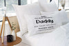 Custom Fathers Day DADDY Pillowcases with kids names - free post included ! Personalised Custom Uniform Teamwear Gift- Parkway Designs