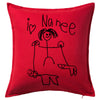 Drawings by the Kids Cushion Personalised Custom Uniform Teamwear Gift- Parkway Designs