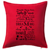 Family Rules Cushion Personalised Custom Uniform Teamwear Gift- Parkway Designs