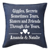 Sisters Cushion 1 Personalised Custom Uniform Teamwear Gift- Parkway Designs