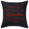 Grandma & kids Script Cushion