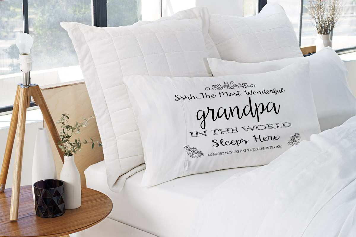 Embroidered Monogram Personalised Pillow Cases Parkway Designs