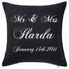 Mr & Mrs Script Cushion Personalised Custom Uniform Teamwear Gift- Parkway Designs