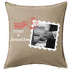 Postage Stamp Cushion Personalised Custom Uniform Teamwear Gift- Parkway Designs