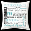 Custom Family Word Collage Cushion Personalised Custom Uniform Teamwear Gift- Parkway Designs