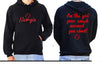 Softball Supporter Hoodie - Im the girl your coach warned you about! Personalised Custom Uniform Teamwear Gift- Parkway Designs