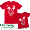 Reindeer Names Adults Kids & Babies Personalised Christmas Tshirt Personalised Custom Uniform Teamwear Gift- Parkway Designs