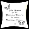 When someone you love becomes a memory - Memorial Cushion Personalised Custom Uniform Teamwear Gift- Parkway Designs