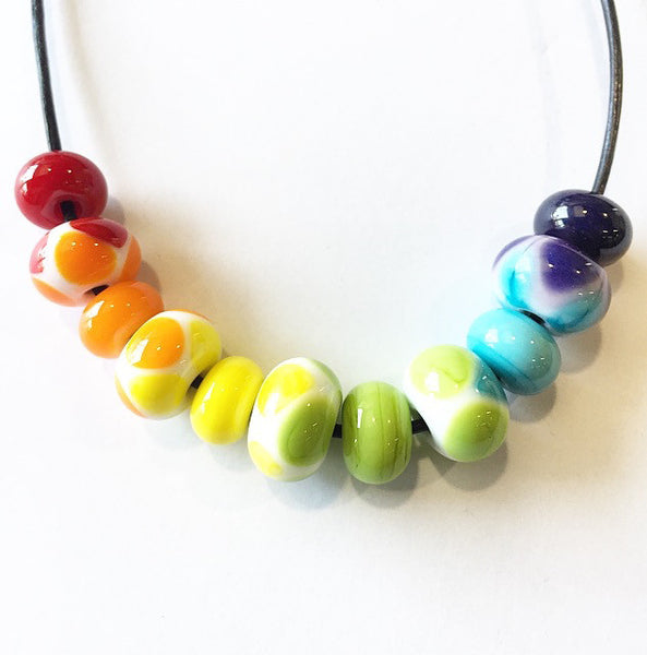 Make a Rainbow Bead Necklace or Bracelet