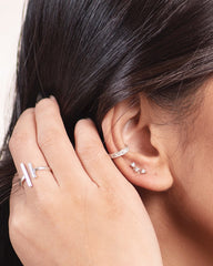 Trio Diamond Earring Stud
