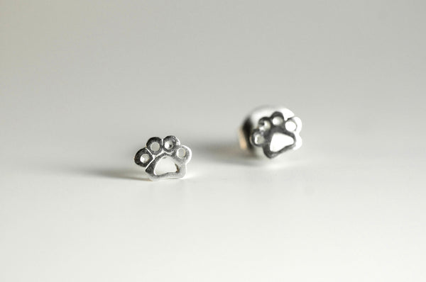 Paw Print Earring Studs