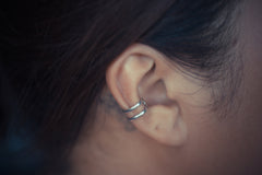 Two-Toned Double Band Ear Cuff