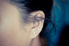 Long Thin Bar Earring Studs