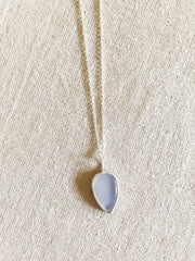 Blue Chalcedony Teardrop Necklace