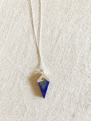 Lapis Lazuli Wave Long Necklace