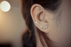 Aries Zodiac Constellation Ear Climbers