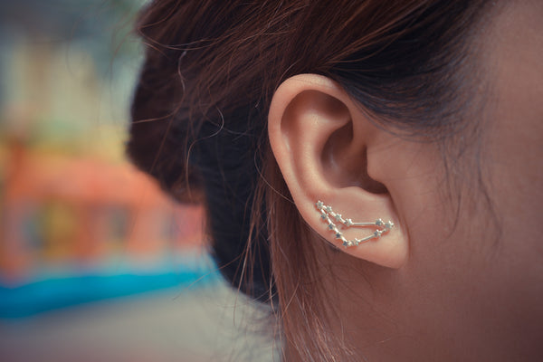 Capricorn Zodiac Constellation Ear Climbers