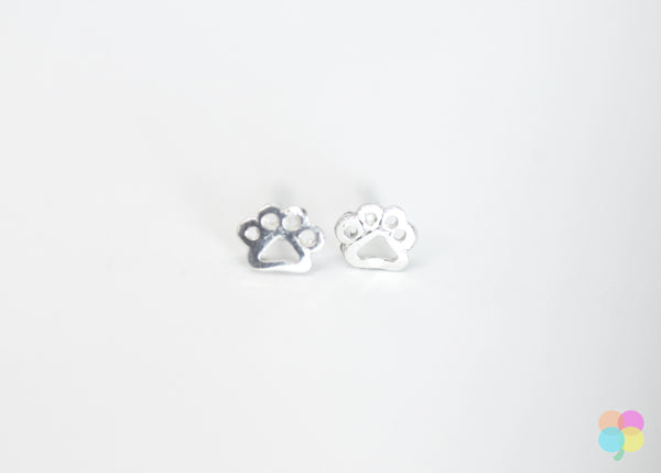 Dog Paw Earring Studs