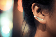 Lightning Bolt Ear Climbers