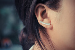 Textured Bar Ear Climbers