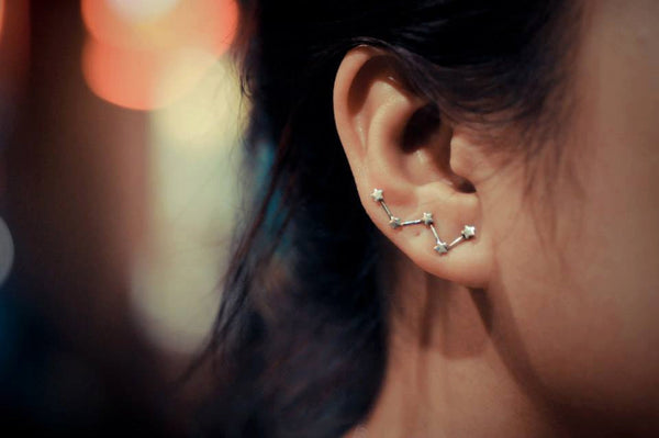 Cassiopeia Constellation Ear Climbers