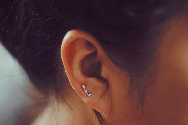 Trio Star Earring Stud