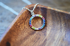 Rainbow Pavé Necklace