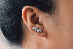 Opal Marquise Ear Climber and Stud Set